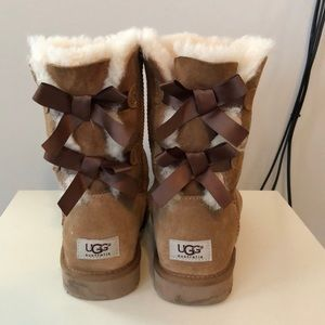 Ugg Boots with bow tie back